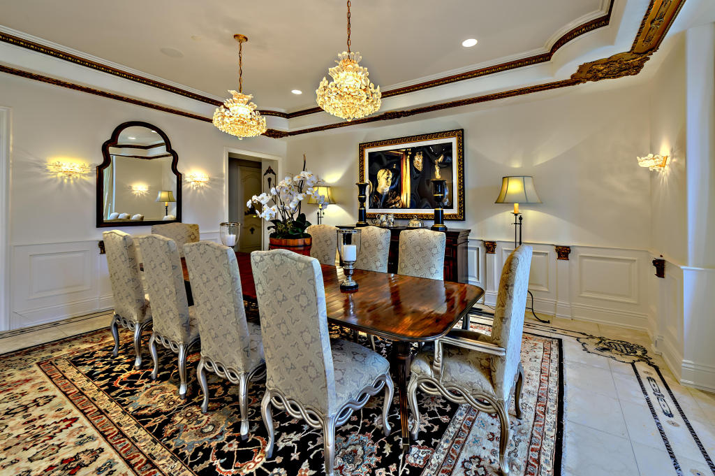 Dining room at angle